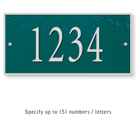 Salsbury 1310GSS Cast Aluminum Address Plaque