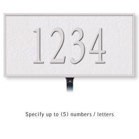 Salsbury 1310WSL Cast Aluminum Address Plaque