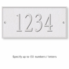 Salsbury 1310WSS Cast Aluminum Address Plaque
