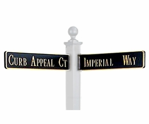 Cast Aluminum Raised Letter Street Name Blades (Frames Not Required)