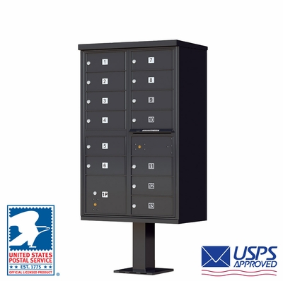 CBU - 13 Tenant Boxes Cluster Mailbox In Black