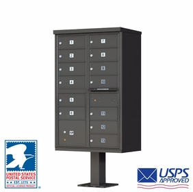 13 Door CBU Mailbox - Bronze