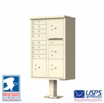 8 Door CBU Mailboxes with 4 Parcel Lockers