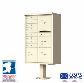 USPS Approved 8 Doors Cluster Mailboxes with 4 Parcel Lockers