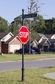 Century 14' 6 in. Tall Round Post Street Sign (14' 6 in. ) w/Cast Blades and 30 in. Stop Sign