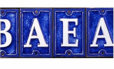Ceramic/Glass Letters