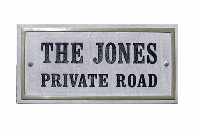"""Chesterfield Rectangle (15""""x 7-1/2"""") Crushed Stone Address Plaque with Engraved Text"""