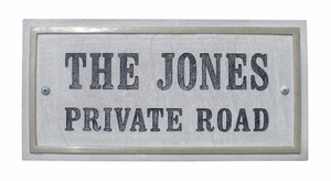 Chesterfield Rectangle Crushed Stone Address Plaque in Sandstone Color
