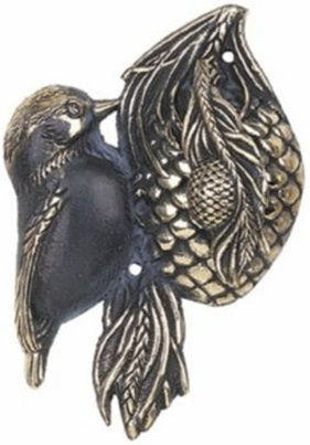 Whitehall Chickadee Knocker (Solid Brass) - Verdigris Finish