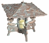 Whitehall Chickadee Twilight Lantern - Copper Verdi