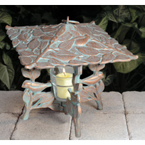 Whitehall Chickadee Twilight Lantern - Oil Rub Bronze