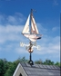 Whitehall Clasic Directions Copper SAILBOAT Weathervane