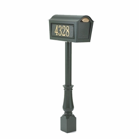 Whitehall Classic Chalet Mailbox Package  - Black