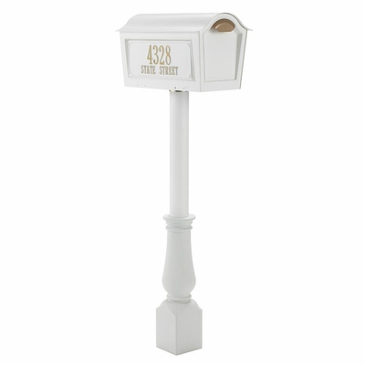 Whitehall Classic Chalet Mailbox Package  - White