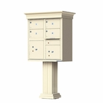 Classic Decorative CBU Mailboxes - 4 Doors 2 Parcel Units
