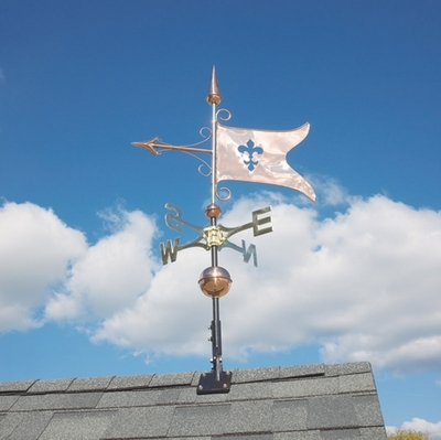 Whitehall Classic Directions Copper BANNER Weathervane