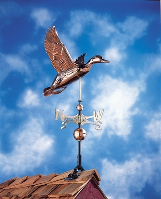 Whitehall Classic Directions Polished Copper Duck Weathervane