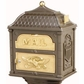 Classic Double Mount Pedestal Mailbox with Polished Brass Accents (Choose Mailbox Color)