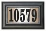 Edgewood Standard Lighted Address Plaque with Black Vinyl Numbers (Choose Frame)