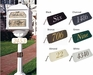 Classic Mailbox Address Plaque - (Choose Color)