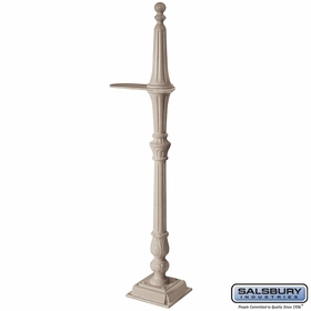 Salsbury 4891BGE Classic Mailbox Post 1 Sided Beige
