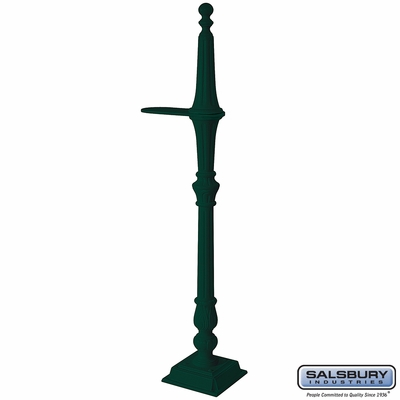 Salsbury 4891GRN Classic Mailbox Post 1 Sided Green