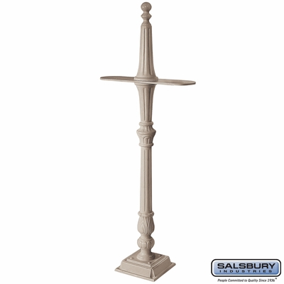 Salsbury 4892BGE Classic Mailbox Post 2 Sided Beige
