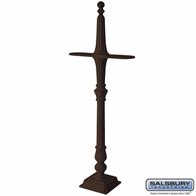Salsbury 4892BRZ Classic Mailbox Post 2 Sided Bronze Finish