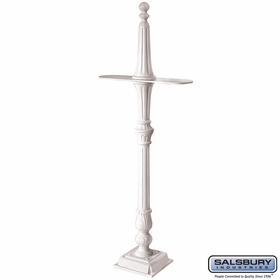 Salsbury 4892WHT Classic Mailbox Post 2 Sided White