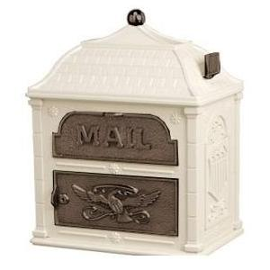 Classic Mailbox Top Almond with Antique Bronze Accents