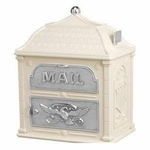 Classic Mailbox Top Almond with Satin Nickel Accents