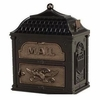 Classic Mailbox Top Black with Antique Bronze Accentss