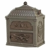 Classic Mailbox Top Metalic Bronze with Antique Bronze Accents