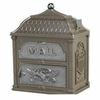 Classic Mailbox Top Metalic Bronze with Satin Nickel Accents