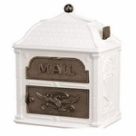 Classic Mailbox Top White with Antique Bronze Accents
