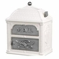 Classic Mailbox Top White with Satin Nickel Accents