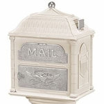Classic Mailbox Top - Almond with Satin Nickel Accents