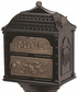 Classic Pedestal Mailbox Package - Black with Antique Bronze