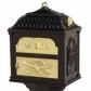 Classic Pedestal Mailbox Package - Black with Polished Brass