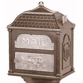 Classic Mailbox Top - Bronze with Satin Nickel Accents