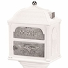 Classic Mailbox Top - White with Satin Nickel Accents