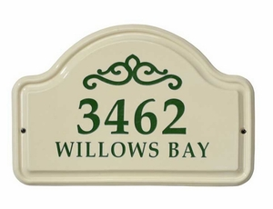 Whitehall Classic Scroll Ceramic Arch - Two Line Standard Wall Plaque