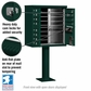12 Door CBU Mailbox - Green (Other Colors Available)
