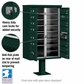 13 Door CBU Mailbox - Green (Other Colors Available)