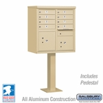 Cluster Box Unit - 8 A Size Doors - Type I - Sandstone - USPS Access