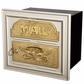 Column Insert Mailboxes - Almond with Polished Brass Accents
