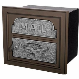 Column Insert Mailboxes - Bronze with Satin Nickel Accents