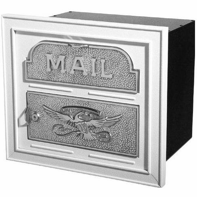 Column Insert Mailboxes - White with Satin Nickel Accents