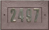 "Manchester Address Plate w/ 3"" ANTIQUE COPPER Brass Numbers (numbers included)"