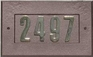 """Manchester Address Plate w/ 3"""" ANTIQUE COPPER Brass Numbers (numbers included)"""